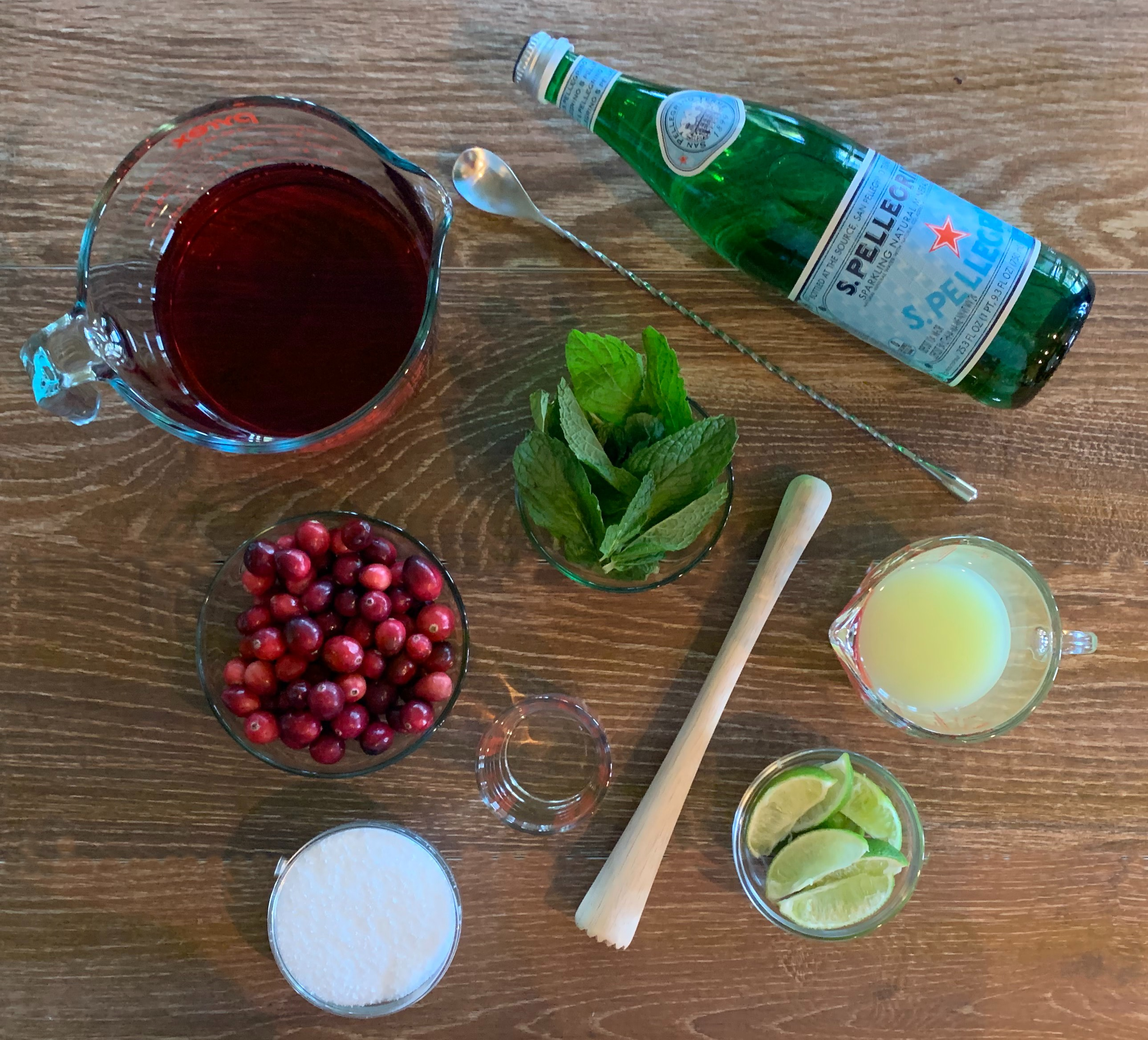 Cranberry Mojitos ingredients