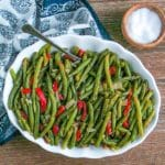 Green Beans with Roasted Red Peppers