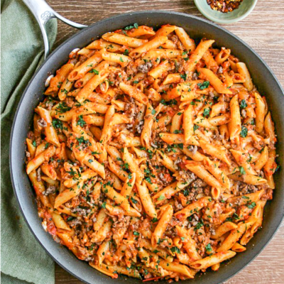 Easy One Pot Mostaccioli