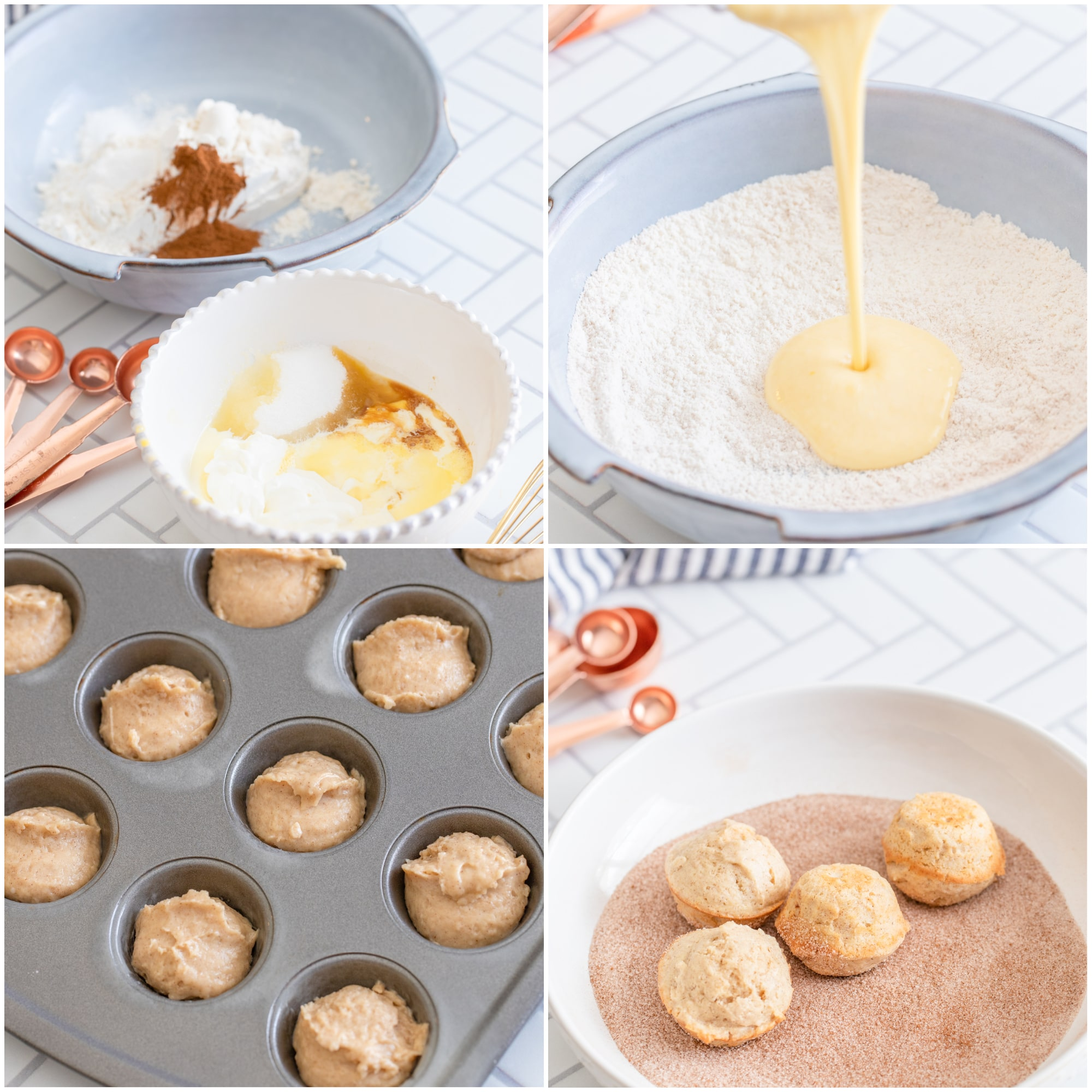 Collage of photos showing steps to recipe