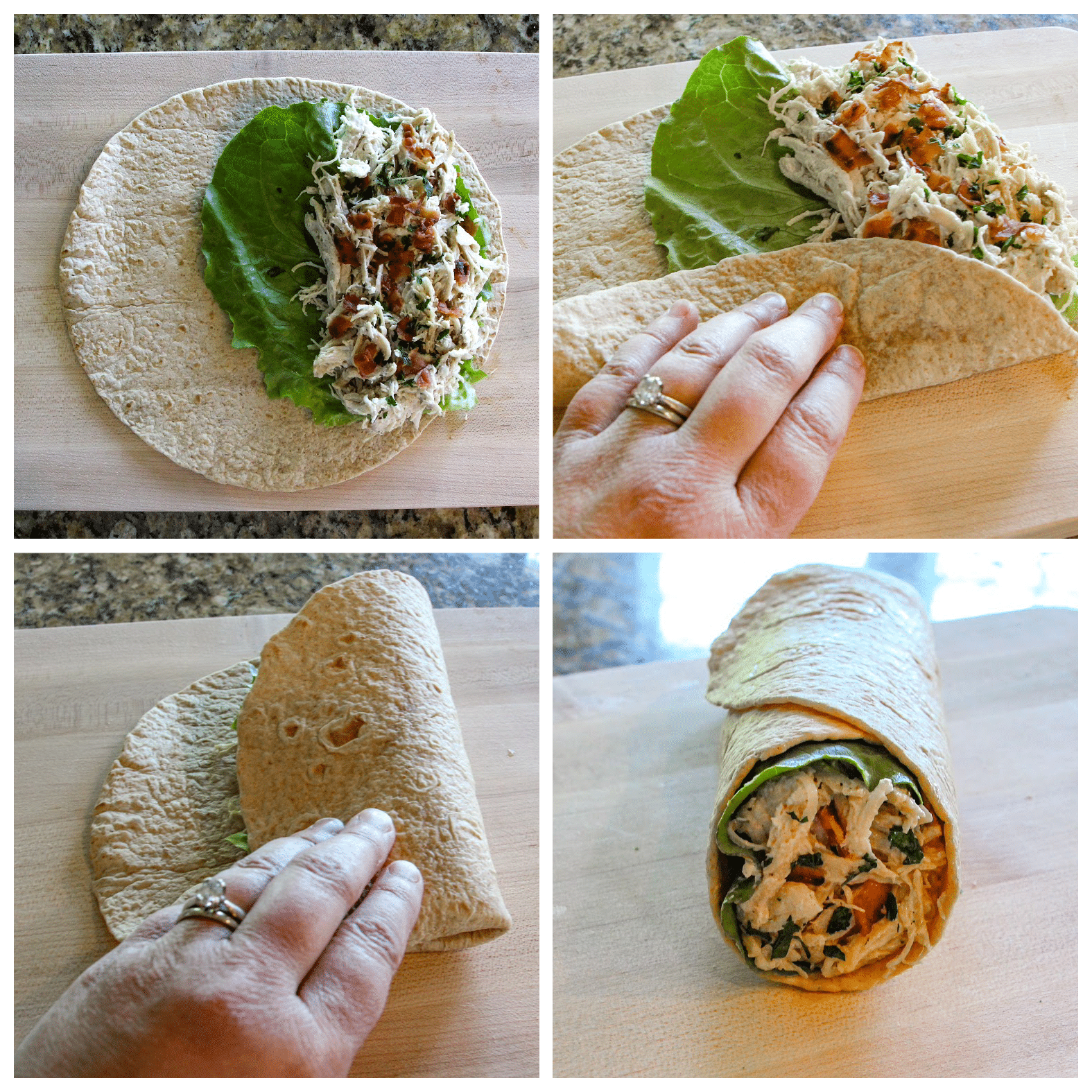 Step by step directions for how to roll a wrap
